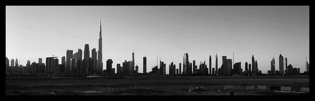 Dubai in BW 012 Skyline