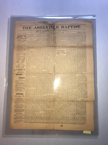 Asheville Baptist newspaper