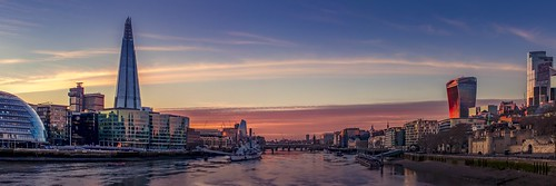 sunset city london england buildings uk britain urban dusk architecture british gb bridge shard river water cityscape panorama ship thames