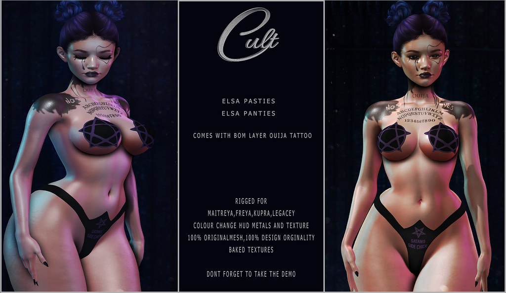 : CULT : Elsa Pasties & Panties with HUD
