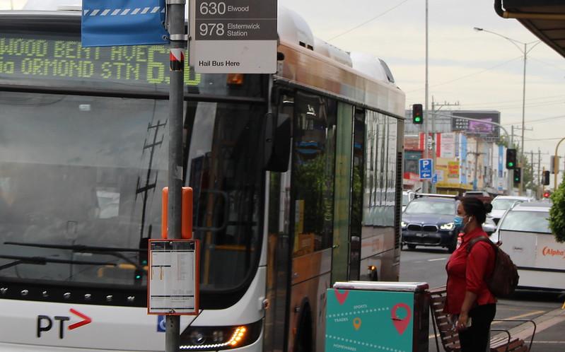 Bus arriving Ormond station