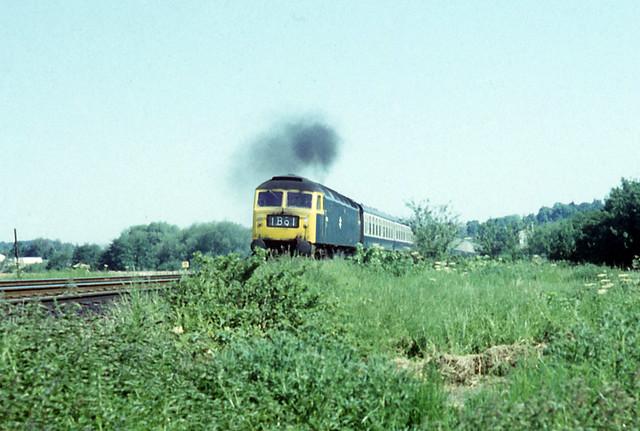 31May75. Exeter St Davids. Brush Class 47 47452 (Ex D1569). [Slide_0969]