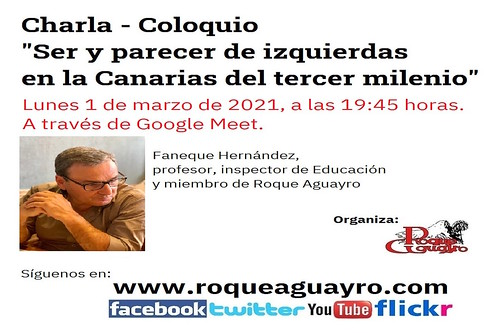 Cartel de la charla de Faneque Hernández