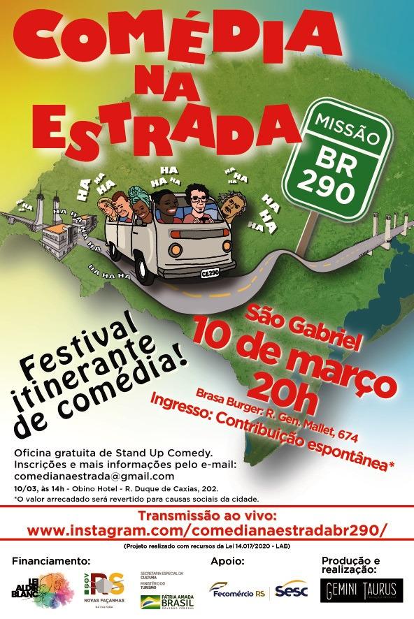 Comédia na Estrada - Missão BR-290 - 10 de março em São Gabriel