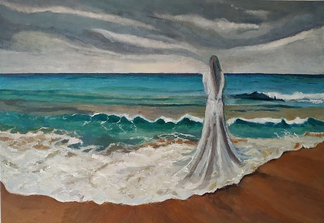 a bound bride Talia Toeg  peintre paysagiste Belles peintures pour la maison Israeli landscape Painter טליה טואג ציירת נוף אימפרסיוניסטית ישראלית
