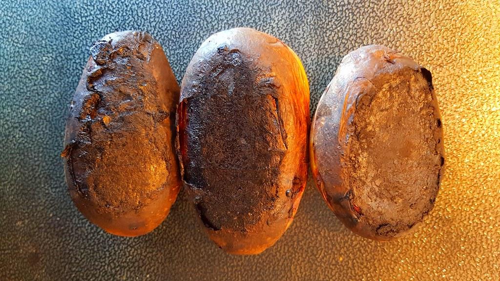 20210225 verbrannte Kartoffeln / burnt potatoes