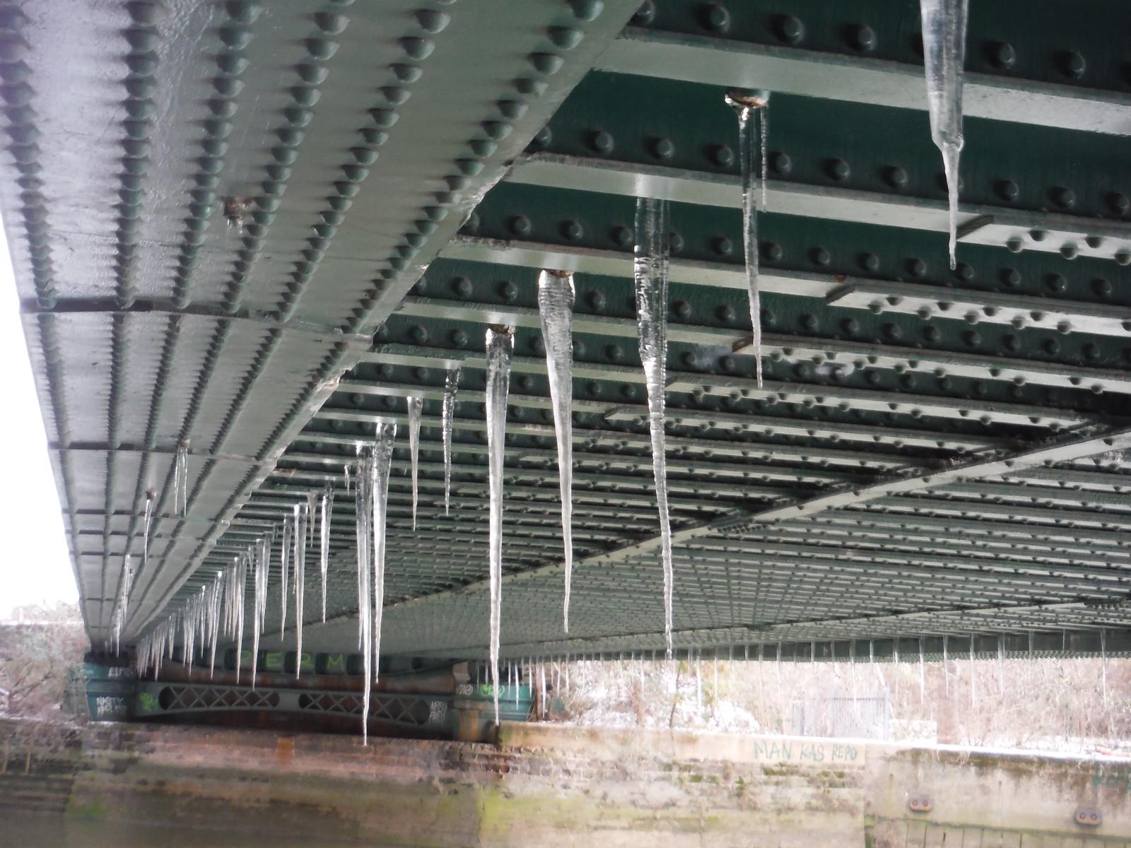 Icicles under Railway Bridge SWC Short Walk 21 - The Line Modern Art Walk (Stratford to North Greenwich)