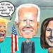 Trump-Biden-Harris Cartoon