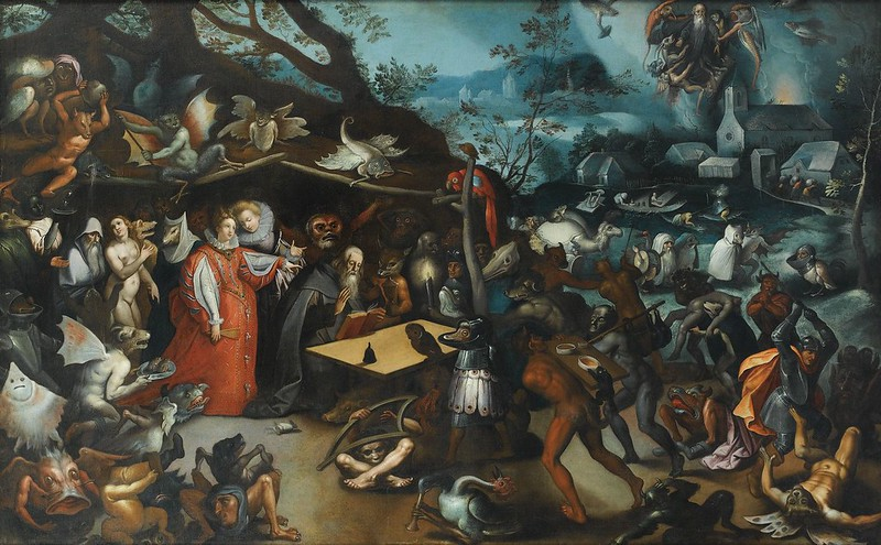 Follower of Jan Brueghel the Elder - The Temptation of Saint Anthony, 16th-17th C