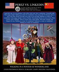 65 Alejandro Evaristo Perez vs Linkedin Corporation - US Federal Court Case -  The Army Wizard of OZ - $2BN Winter Wonderland song