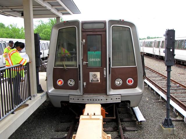 WMATA railcar 1165 at Branch Avenue rail yard [02]
