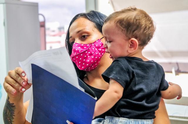 Crianças recebem prevenção contra infecções respiratórias