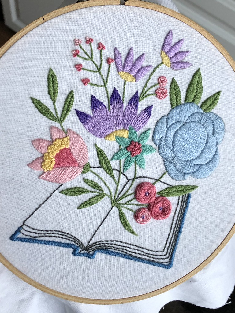Blooming Books Embroidery