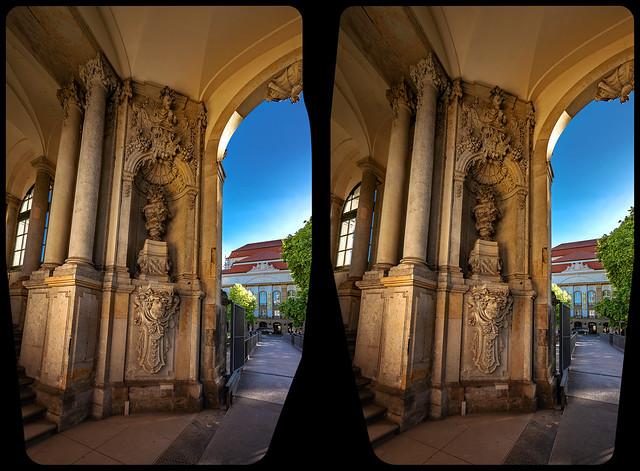 Zwinger of Dresden 3-D / CrossView / Stereoscopy