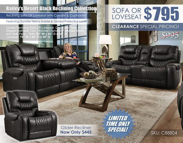 Baileys Desert Black Reclining Sofa & Loveseat Set_88804_2021_445