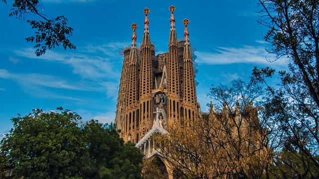 The Basílica de la Sagrada Família, Barcelona