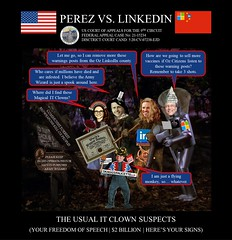 66 Alejandro Evaristo Perez vs Linkedin Corporation - US Federal Court Case -  The Army Wizard of OZ - $2BN Communist Forest Warning Posts