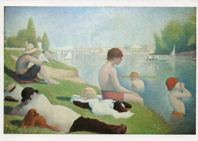 Georges-Pierre Seurat - ''Bathers at  Asnieres'' (National Gallery London)