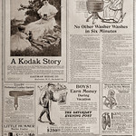 """Thu, 2021-02-25 10:55 - """"The Saturday Evening Post,"""" June 29, 1907, ads on the reverse of the front cover."""