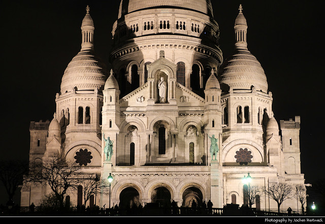 Sacré-Cœur at Night, Paris, France
