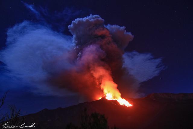 #Etna - 24 Febbraio 2021 Parossismo nuovo cratere di sudest e sella!