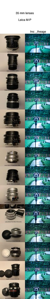 Some of my Leica M 35 mm lenses