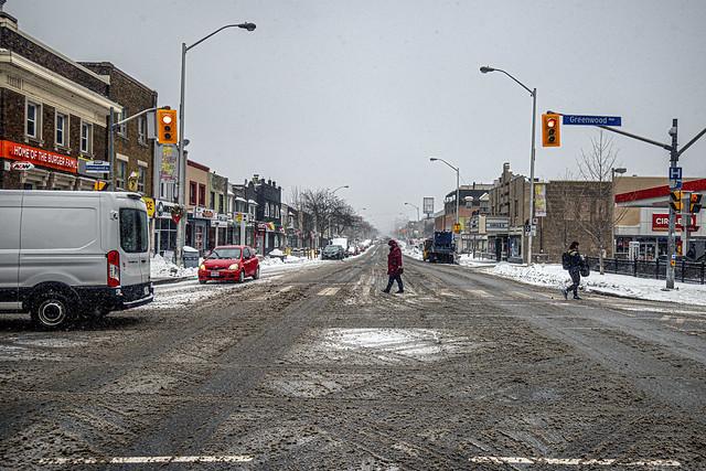 Crossing Danforth Avenue