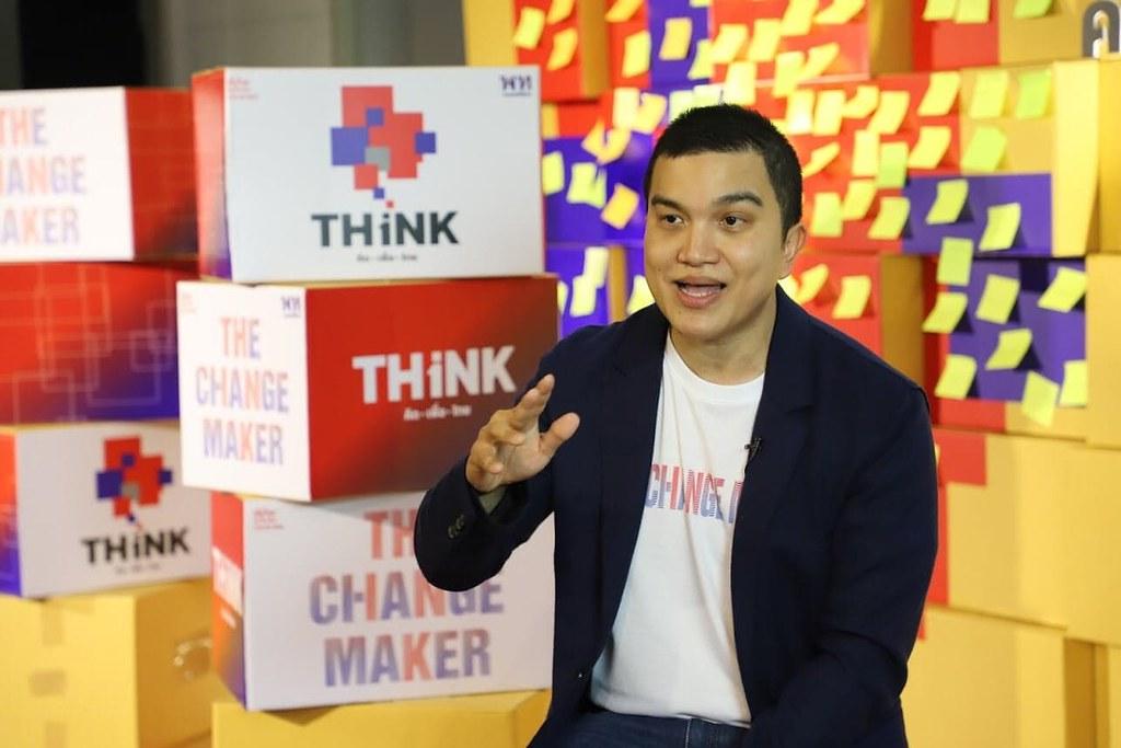 คณาพจน์ โจมฤทธิ์ ในฐานะผู้อำนวยการทีมคิดเพื่อไทยและโครงการ The Change Maker
