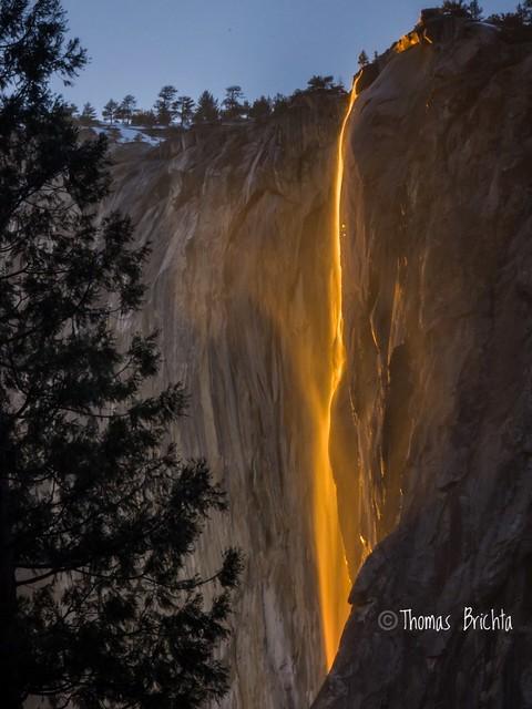 Horsetail Falls. Yosemite