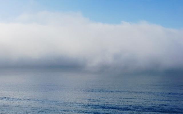 marine layer lies offshore