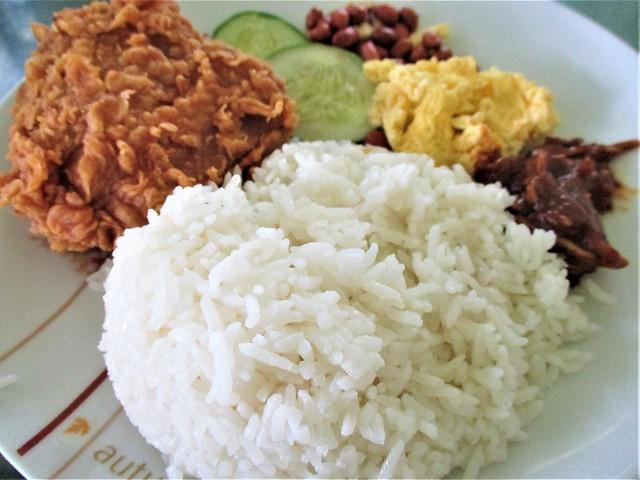 KFC nasi atuk, rice