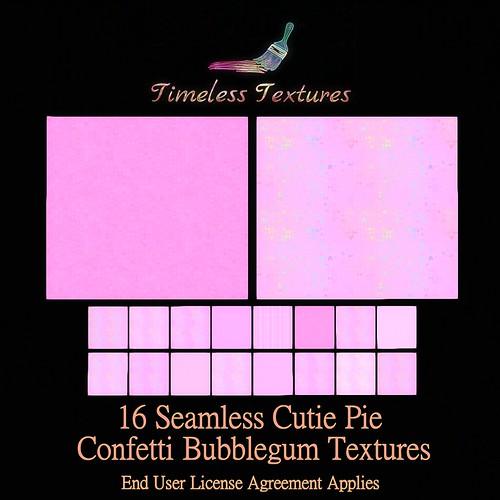 TT 16 Seamless Cutie Pie Confetti Bubblegum Timeless Textures