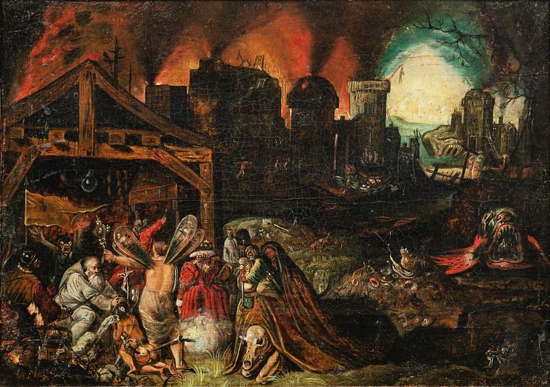 Follower of Jan Brueghel the Elder - The Temptation of Saint Anthony