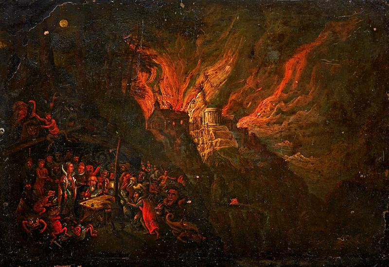 Follower of Jan Breughel - The Temptation of Saint Anthony, 17th Century