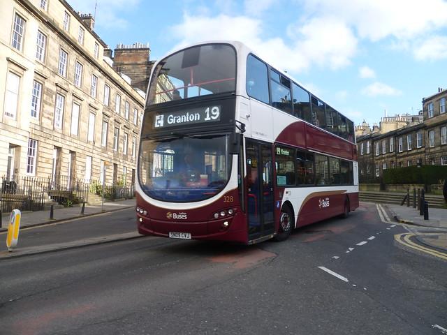 Lothian 328 at Lynedoch Place, Edinburgh.