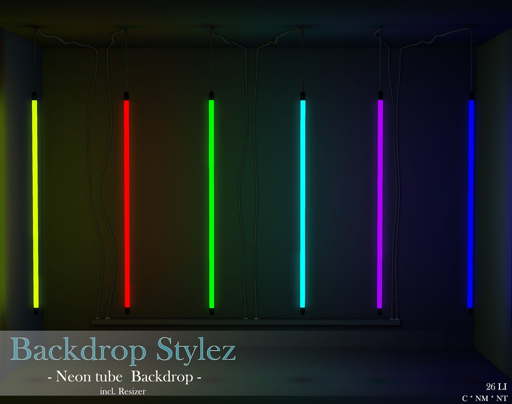 Backdrop Stylez – Neon tube Backdrop –
