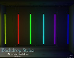 Backdrop Stylez - Neon tube Backdrop -