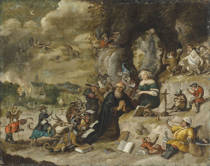 Follower of Jan Brueghel the Younger - The Tempation of Saint Anthony