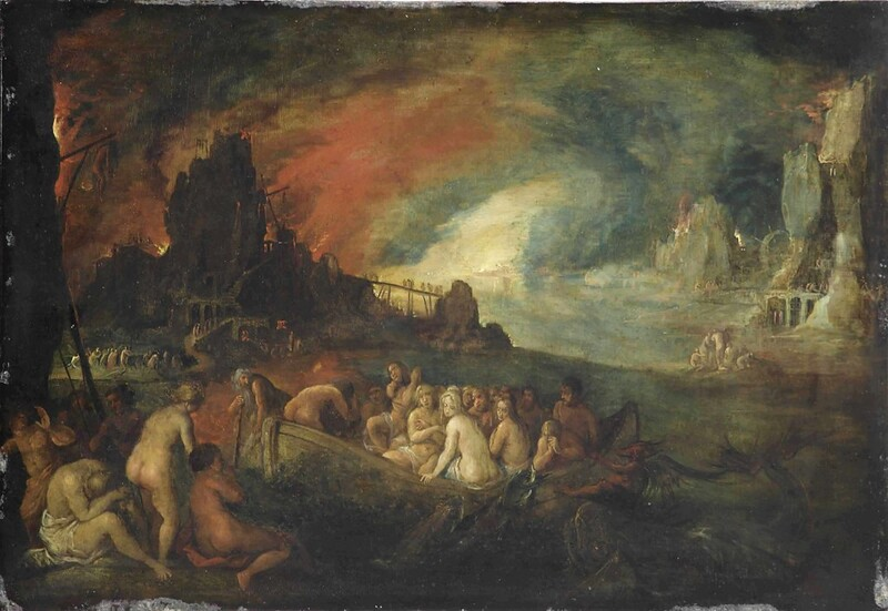 Circle of Jan Breughel II - The Descent into Hell, 1601-78
