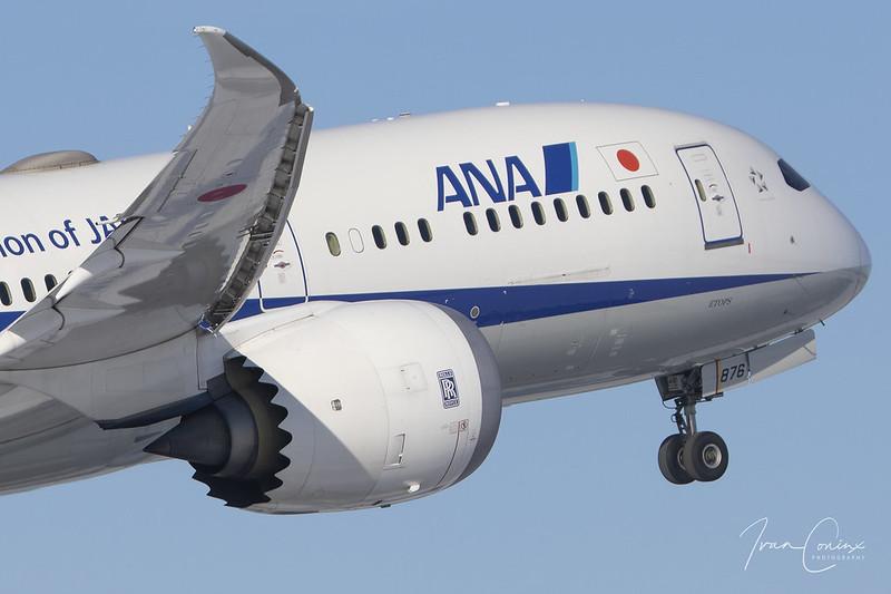 Boeing 787-9 Dreamliner – All Nippon Airways - ANA – JA876A – Brussels Airport (BRU EBBR) – 2021 02 13 – Takeoff RWY 07R – 01 – Copyright © 2021 Ivan Coninx