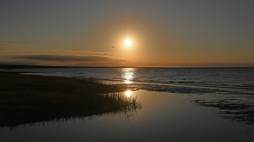 sunset skaket beach capecod ma massachusetts seascaape landscpe bay ocean atlantic reflections reflection