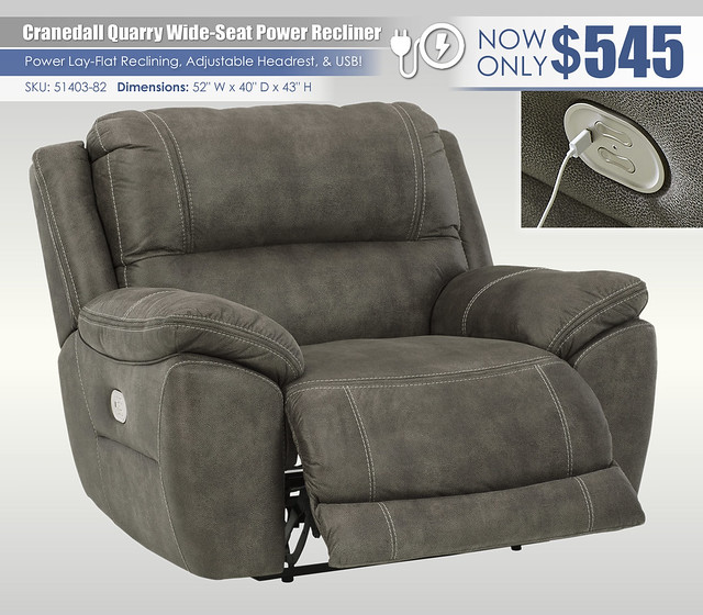 Cranedall Quarry Wide Seat Power Recliner_51403-82-OPEN-ANGLE-SWUpdate