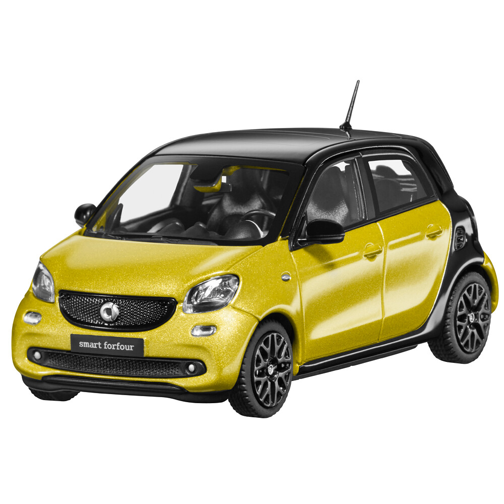 Norev Smart 453 Forfour Prime Yellow Model Car 1:43