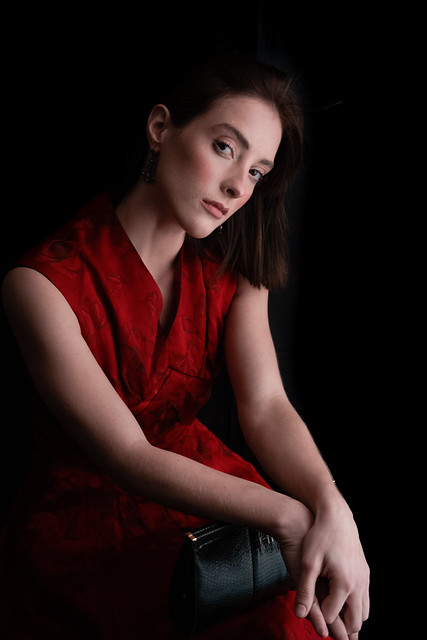 F0979 ~ The young woman in red...