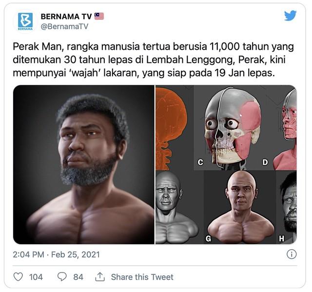 Rangka Manusia Tertua Berusia 11,000 Tahun, 'Perak Man' Kini Miliki Wajah