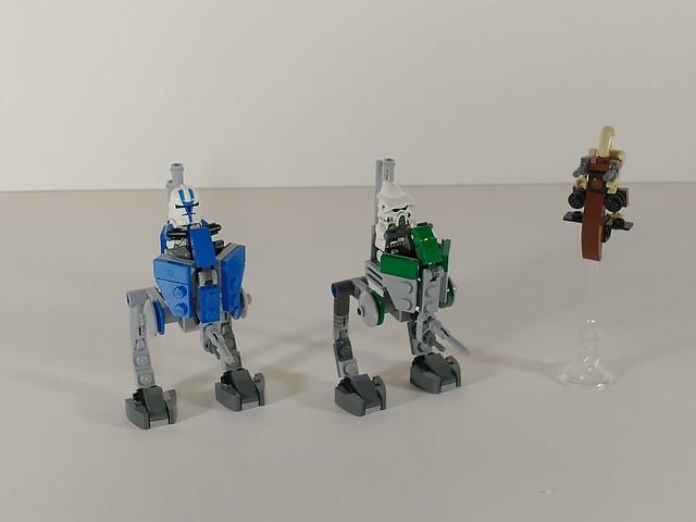 Minifigure scale ATRTs plus STAP