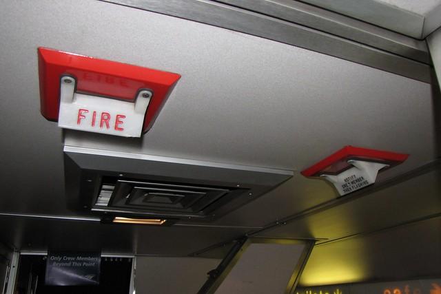 Amtrak Superliner II fire alarms