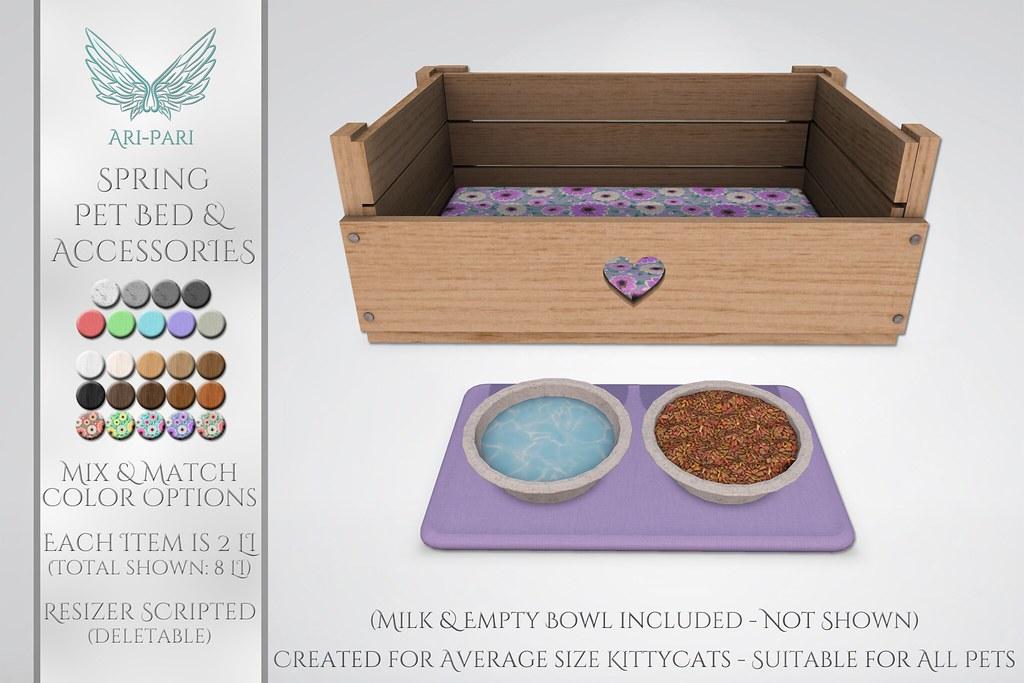 [Ari-Pari] Spring Pet Bed & Accessories