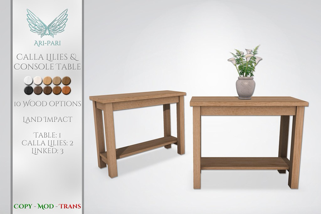 [Ari-Pari] Calla Lilies & Console Table