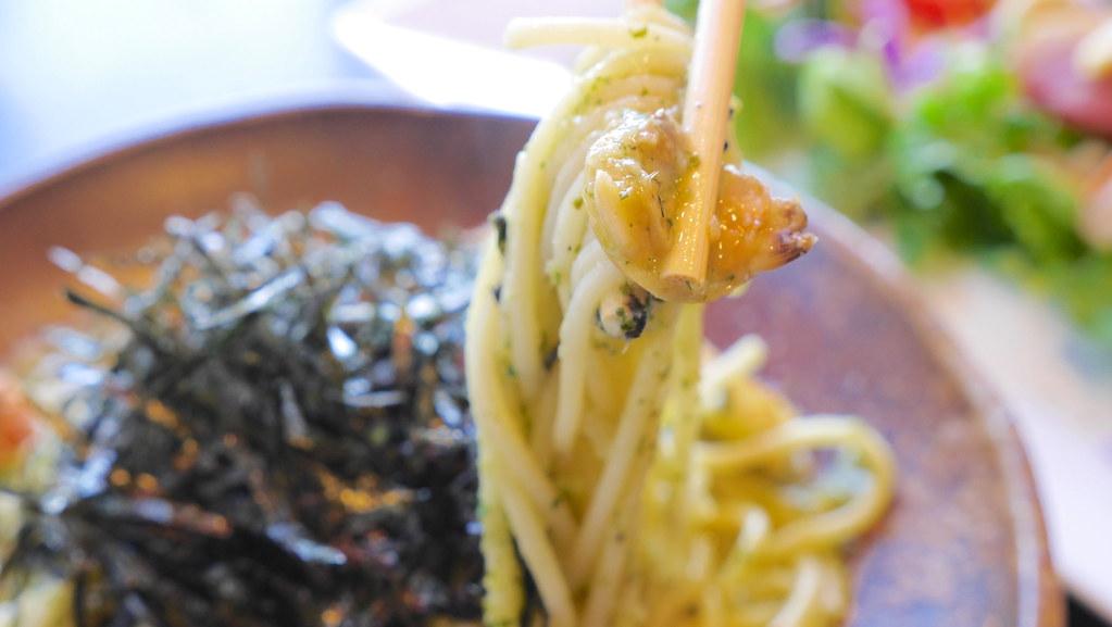 あさりとジェノバのスパゲティー
